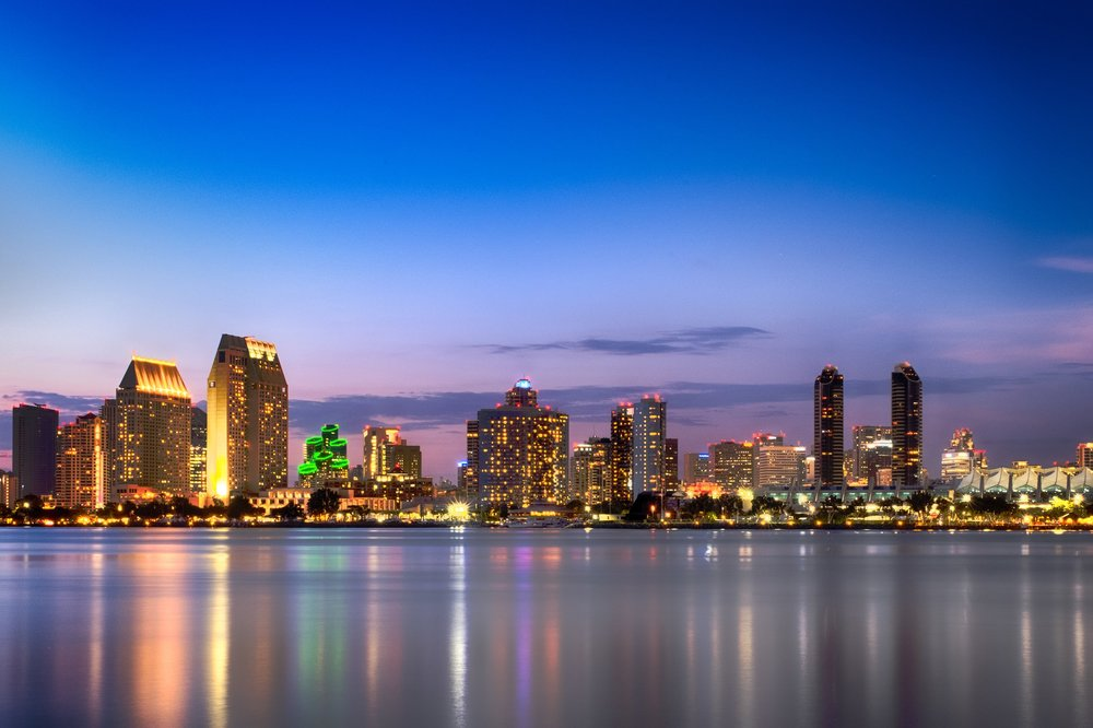 San Diego Skyline and Waterfront from Coronado Island - Travel Photograpahy.