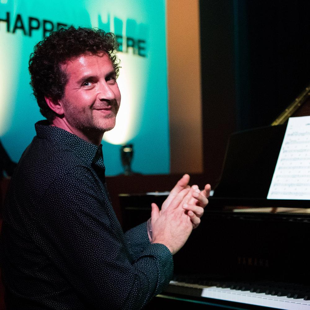December 15, 2017 - Ioannis Goudelis, piano, plays in a tribute to Mongo Santamaria at The Nash Jazz Phoenix, Arizona.