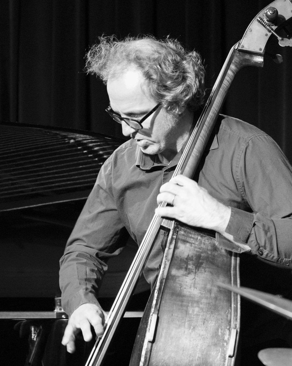 "December 9, 2017 - Hans Glawischnig, bassist, of the Duduka Da Fonseca Trio playing ""Samba Jazz and the Music of Jobim"" at The Nash Jazz Phoenix."