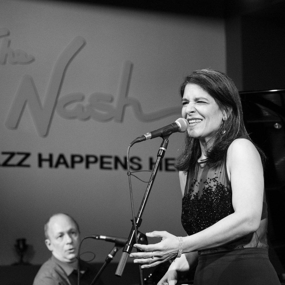 """December 9, 2017 - Maucha Adnet sings with the Duduka Da Fonseca Trio - playing """"Samba Jazz and the Music of Jobim"""" at The Nash Jazz Phoenix."""