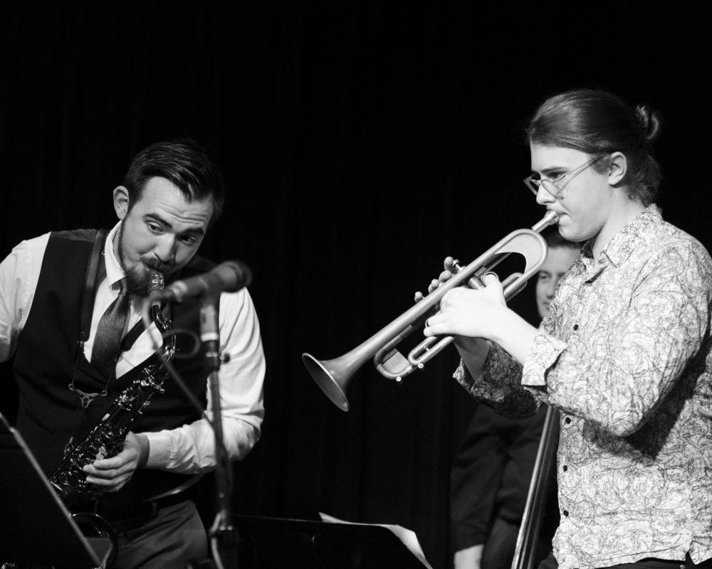 December 4, 2018 Paul-Eirik Melhus and Cody Rowlands at The Nash Jazz Phoenix - Joseph Berg Jazz Photography