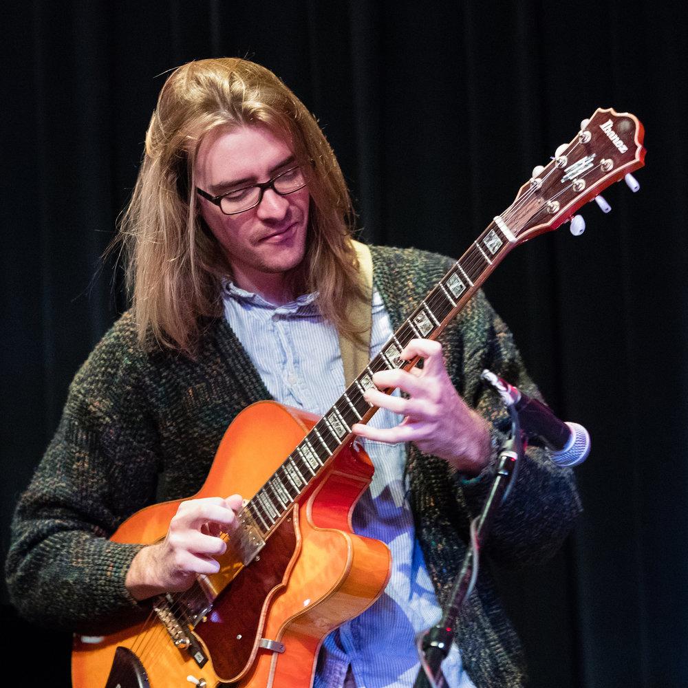 December 7, 2018 Reid Riddiough on guitar at The Nash Jazz Phoenix