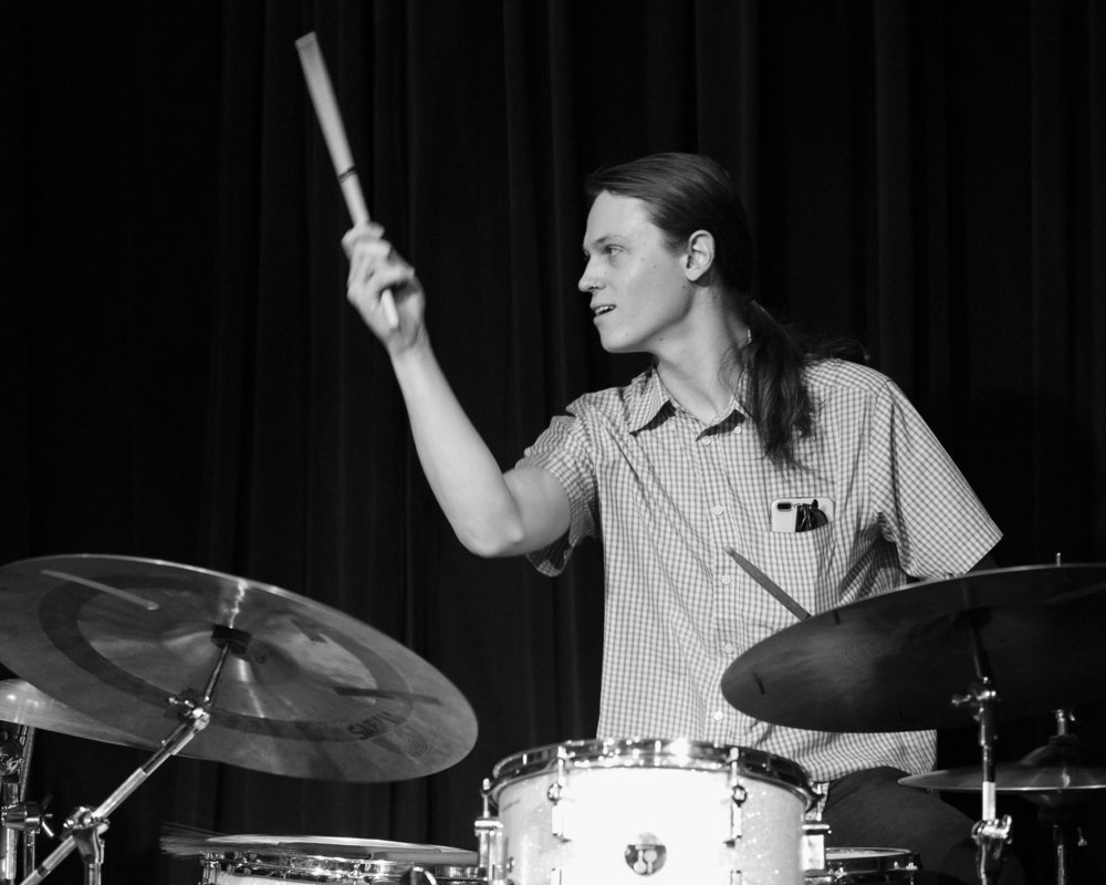 December 7, 2018 Jacob Eary plays drums at The Nash Phoenix Sunday Jazz Jam Session - Joseph Berg Music Photography