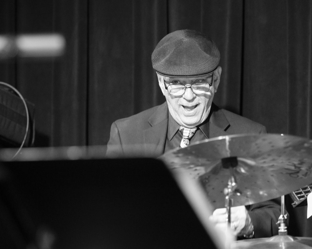 December 20, 2018 - Bob McKeon on the drums with The Frank Smith Quintet at The Nash Phoenix. Joseph Berg Jazz Music Photography.
