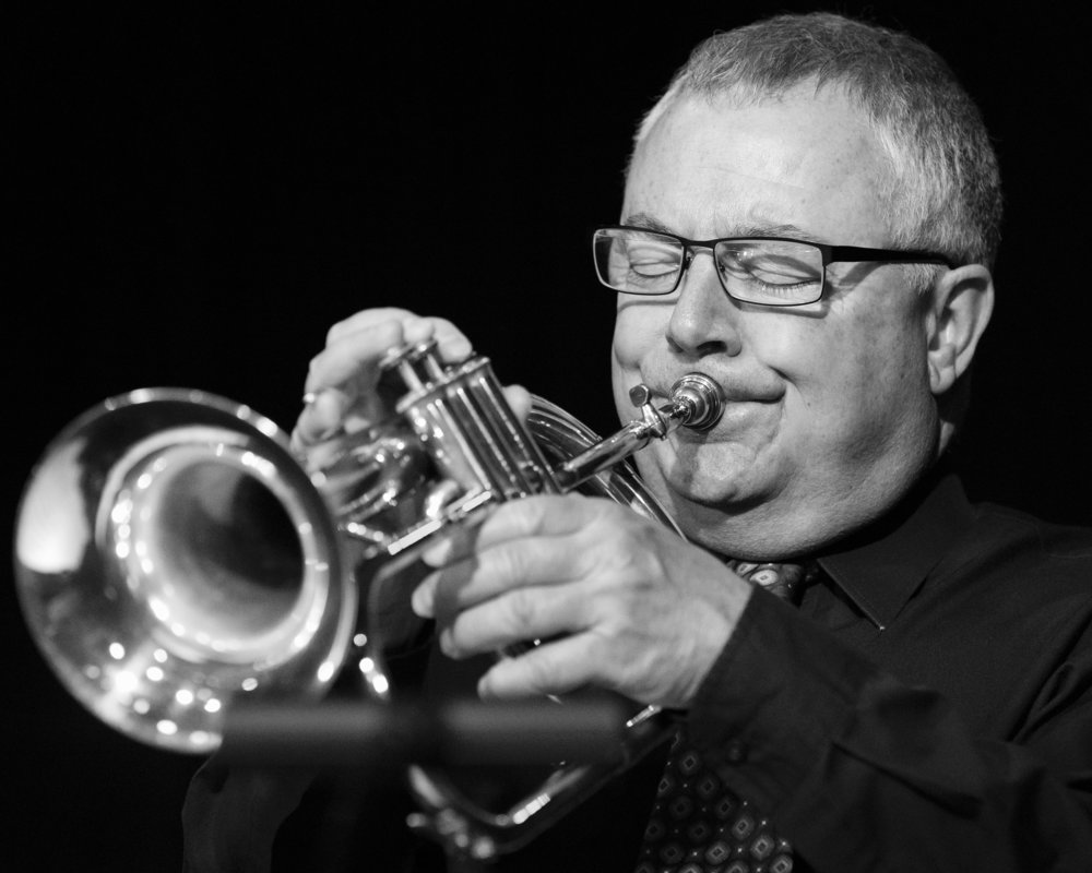 December 20, 2018 - Denny Monce on flugelhorn with The Frank Smith Quintet at The Nash Phoenix. Joseph Berg Jazz Music Photography.