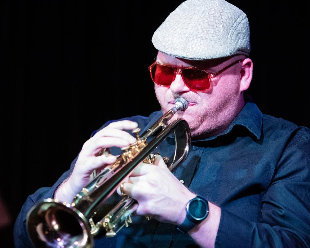January 26, 2018 Danny Doyle on trumpet at The Nash Jazz Phoenix - Joseph Berg Jazz Music Photography.