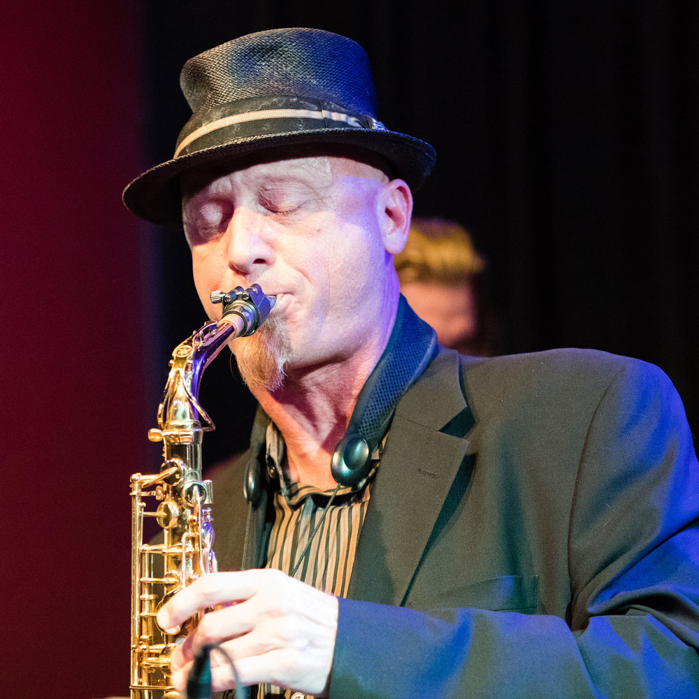 January 26, 2018 Scott Zimmer on saxophone at The Nash Jazz Phoenix - Joseph Berg Jazz Music Photography.
