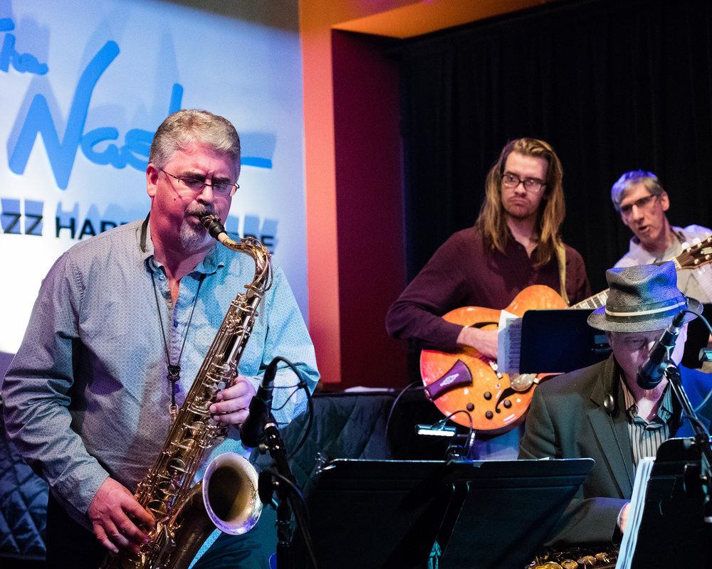January 26, 2018 Bryon Ruth on saxophone at The Nash Jazz Phoenix - Joseph Berg Jazz Music Photography.
