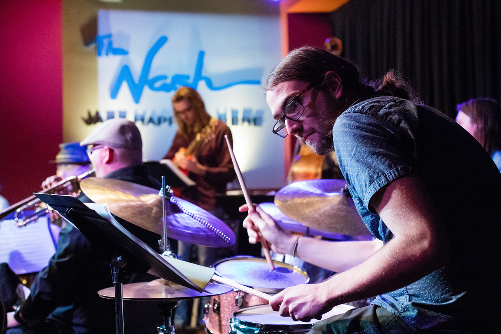 January 26, 2018 Conner Sample on drums at The Nash Jazz Phoenix - Joseph Berg Jazz Music Photography.
