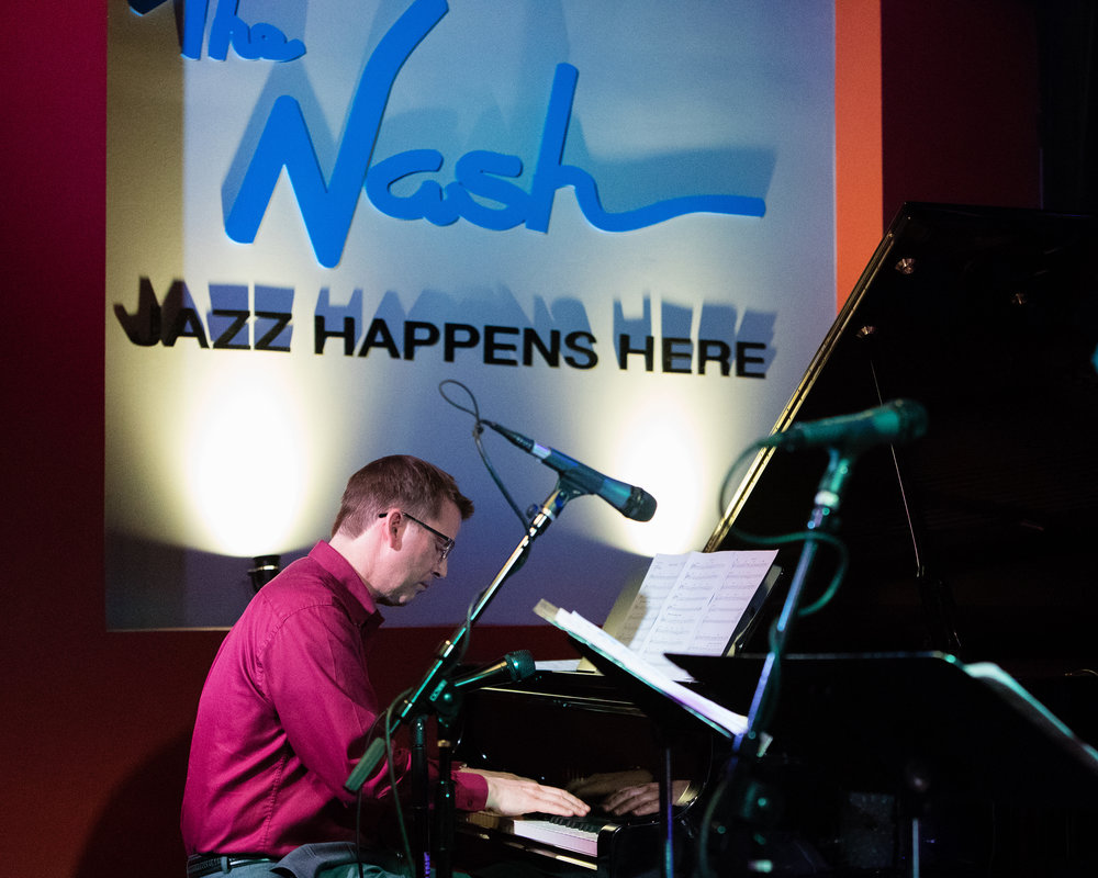 February 7, 2018 Mike Kocour on piano at The Nash Jazz Phoenix - Joseph Berg Photography