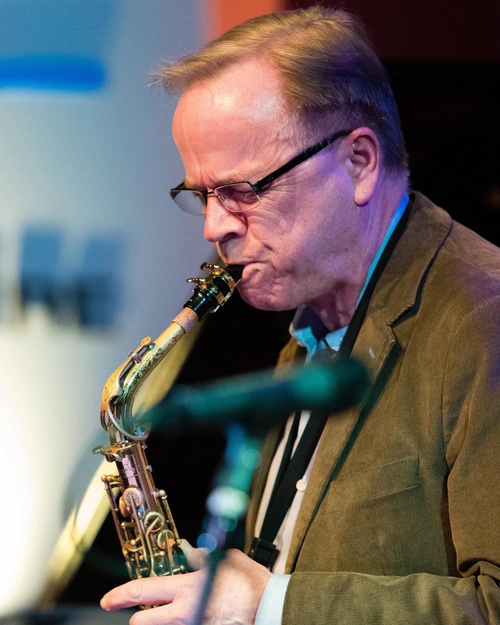 February 7, 2018 Allan Chase on saxophone at The Nash Jazz Phoenix - Joseph Berg Photography