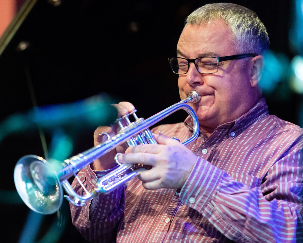 February 7, 2018 Dennis Monce on trumpet at The Nash Jazz Phoenix - Joseph Berg Photography