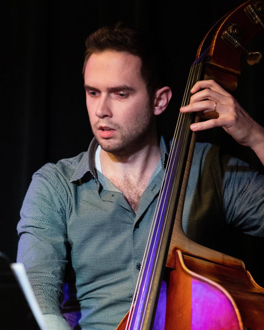 February 7, 2018 Ben Hedquist on bass at The Nash Jazz Phoenix - Joseph Berg Photography