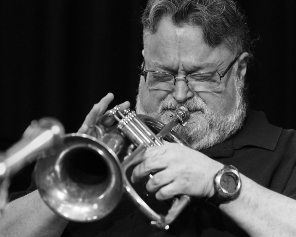 February 11, 2018 Jim Henry on the Flugelhorn at The Nash Jazz Phoenix - Joseph Berg Photography