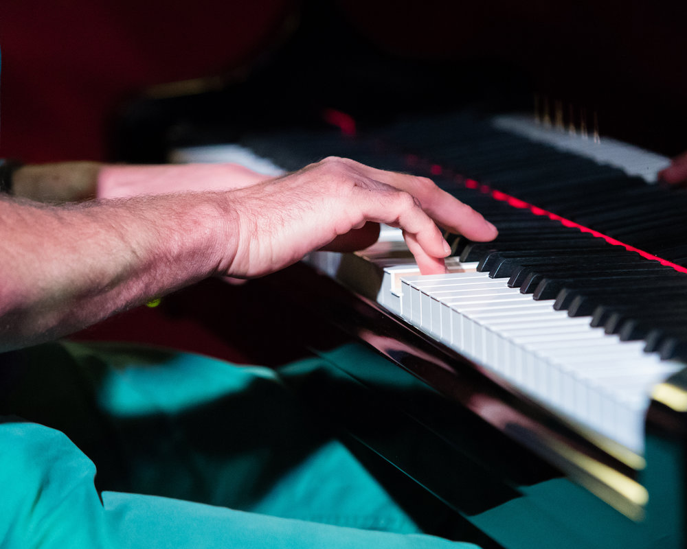 February 11, 2018 Ioannis Goudelis on the piano at The Nash Jazz Phoenix - Joseph Berg Photography