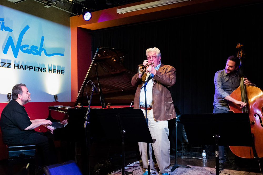 February 28, 2018: Nick Manson, Fred Forney, and Ben Hedquist during the pro jazz jam session at The Nash.