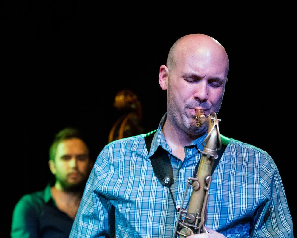 March 9, 2018 - Glenn White on saxophone at The Nash Jazz Phoenix - Joseph Berg Photography