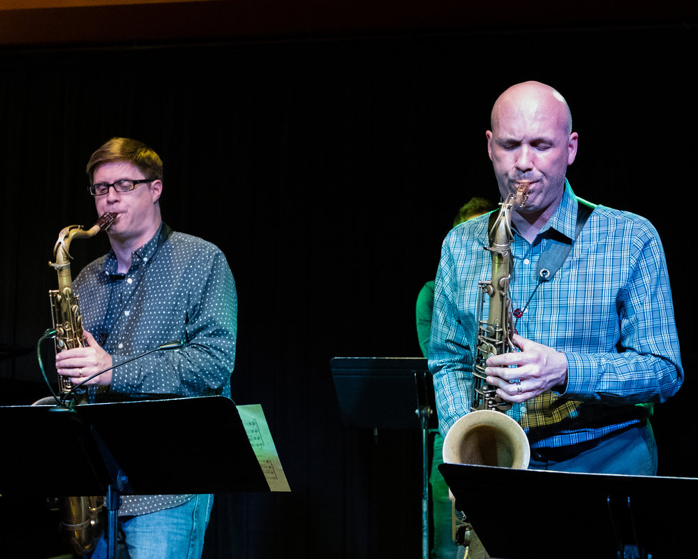 March 9, 2018 - Glenn White and Adam Roberts on saxophone at The Nash Jazz Phoenix - Joseph Berg Photography