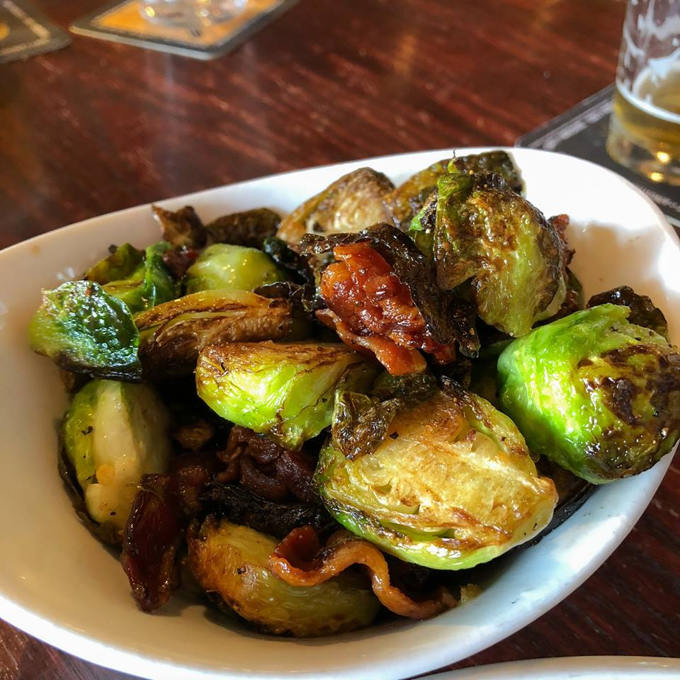 Maple Bacon Braised Brussel Sprouts - South of Beale