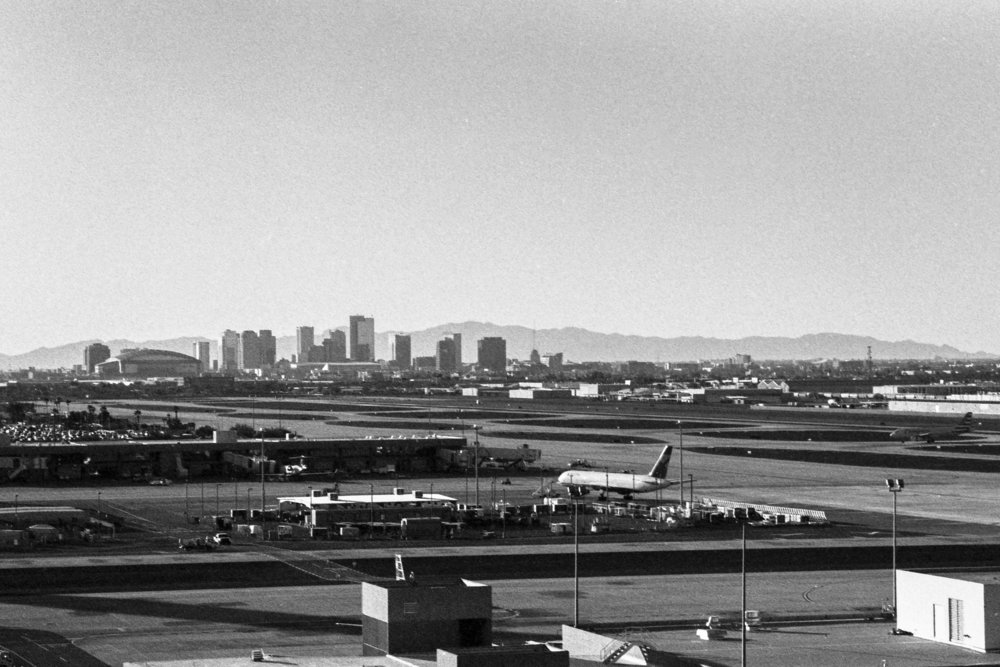 Downtown Phoenix from Sky Harbor Airport