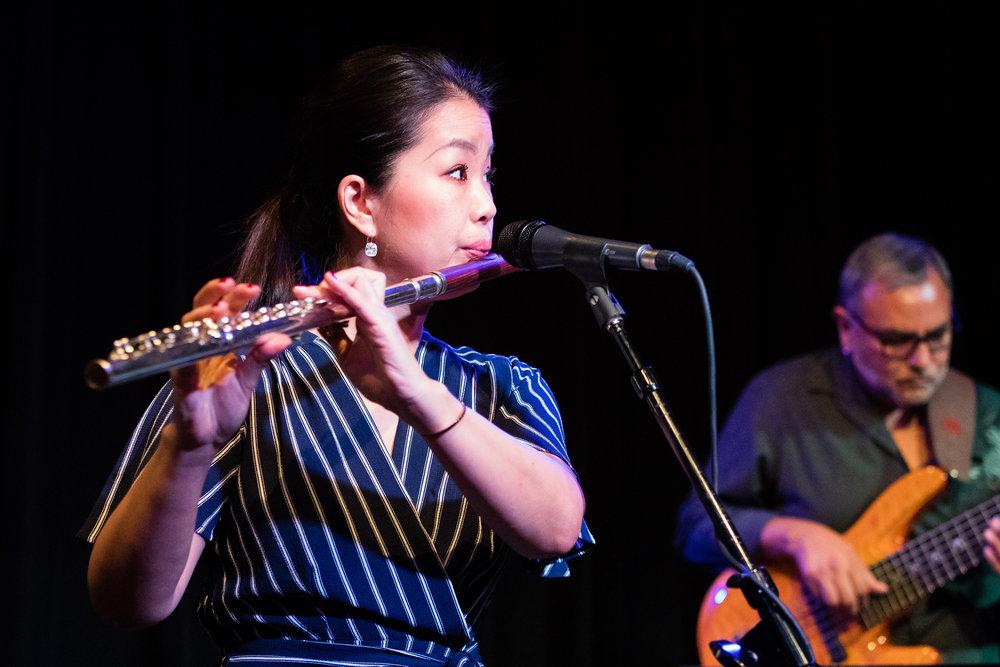 Mayu Saeki at The Nash Jazz Phoenix with Carol Mellis, Nick Manson, Mario Mendivil and John Lewis - Joseph Berg Jazz Concert Photography