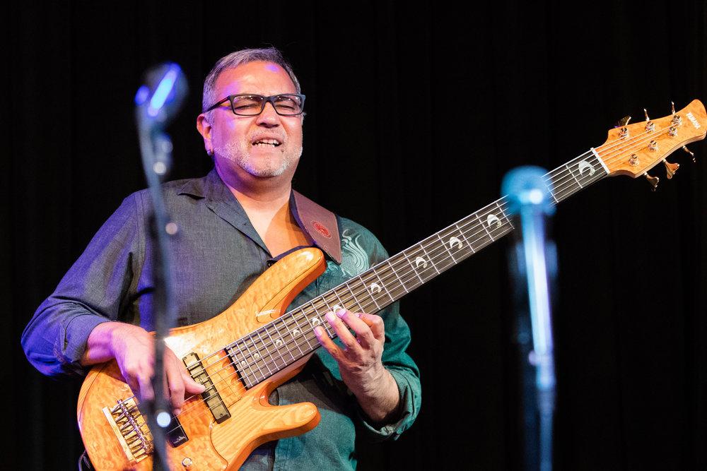 Mario Mendivil on bass at The Nash Jazz Phoenix - Joseph Berg Photography
