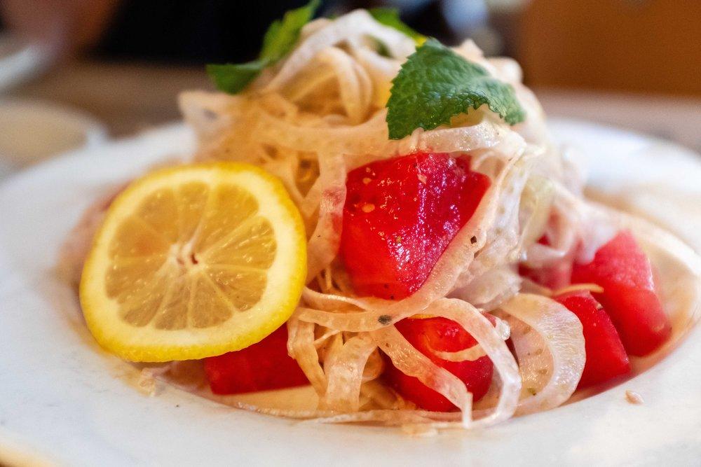 Watermelon and fennel salad - Pizzeria Bianco - Joseph Berg