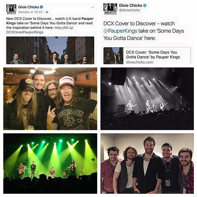 2016...Our year in pictures!  Jan & Feb saw public support from @dixie_chicks, hangs with @thecadillac3 and the @bretteldredge debut UK tour #pauperkings #countrymusic #band #music #dixiechicks #thecadillac3 #bretteldredge
