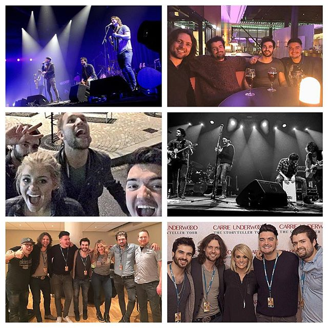 2016..Our year in pictures!  Sharing the stage with @carrieunderwood in arenas is bucketlist stuff! Gelling with the gorgeous @laurenalaina was a bonus! ❤ #pauperkings #countrymusic #band #music #carrieunderwood #laurenalaina #norway #sweden