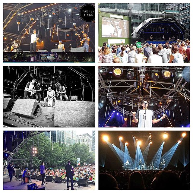 2016... Our year in pictures!  Honoured to have been asked to perform at the first #NashvillemeetsLondon  Henry also played for @tyherndonofficial  #pauperkings #countrymusic #band #music #london #canarywharf