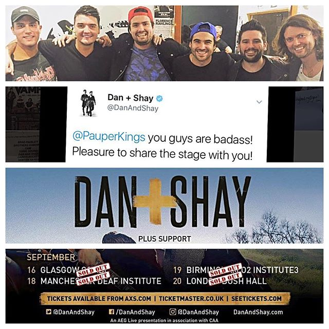 2016... Our year in pictures!  September saw @danandshay invite us on their debut UK tour.  Great dudes! A huge year highlight!  #pauperkings #countrymusic #band #music #danandshay #fromthegroundup