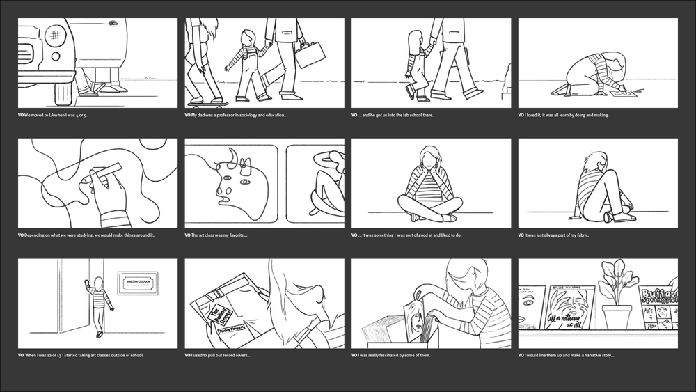 California Sunday Magazine - Kim Gordon Storyboard 02