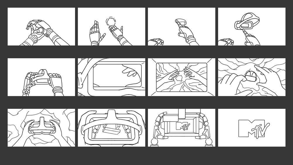 MTV - Artist Ident Storyboard 01