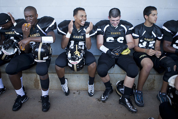 moments from the first football game I photographed for the journal