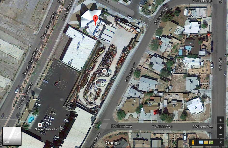 Source: Google Satellite of the Neon Boneyard Museum