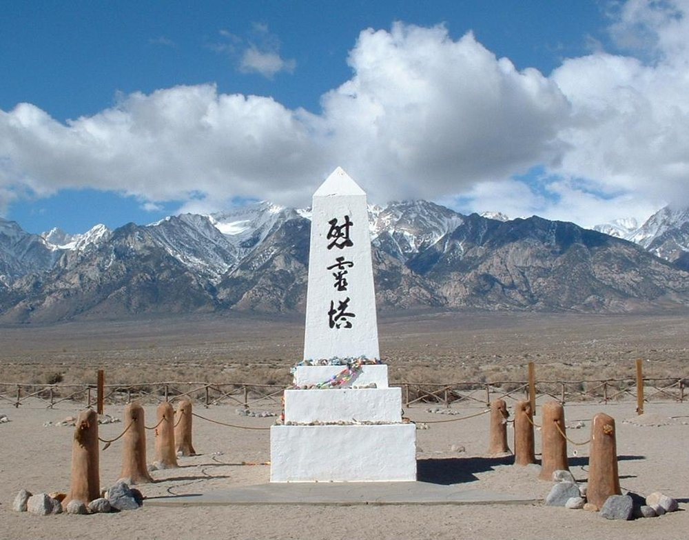 Cemetery shrine, Manzanar Japanese internment camp // Source: History.com
