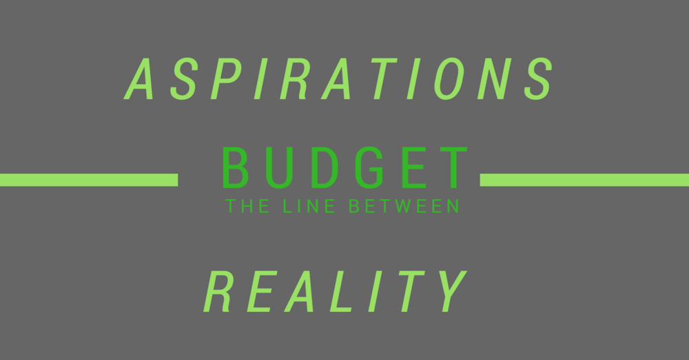 aspirations vs reality budget