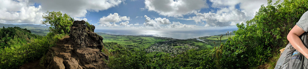 A panoramic view of the entire East Shore from the top of Sleeping Giant.