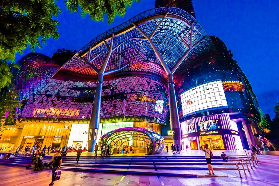 Singapore Orchard Road - all high end shopping.