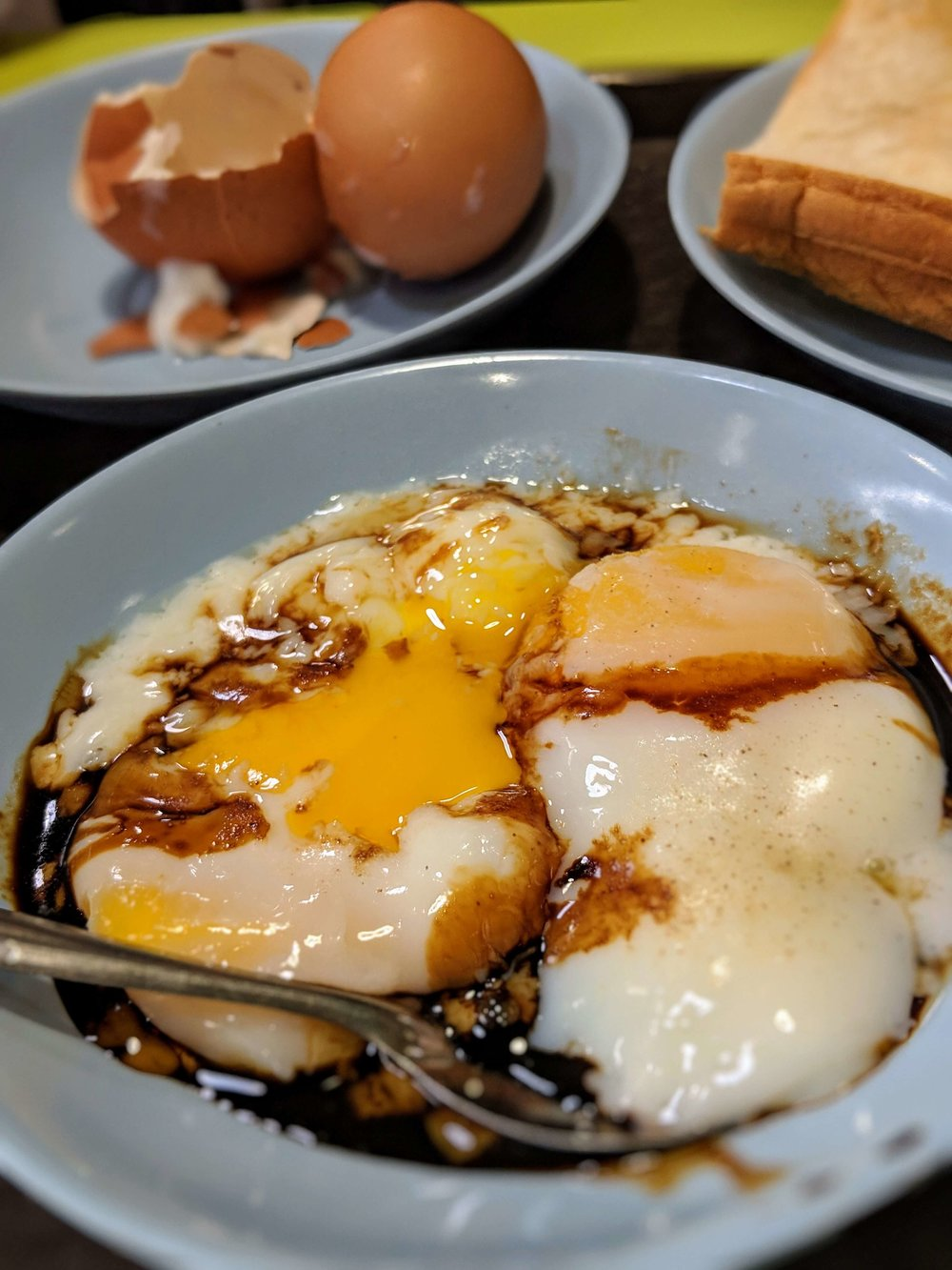 Breakfast Eggs and Kaya Toast, Singapore
