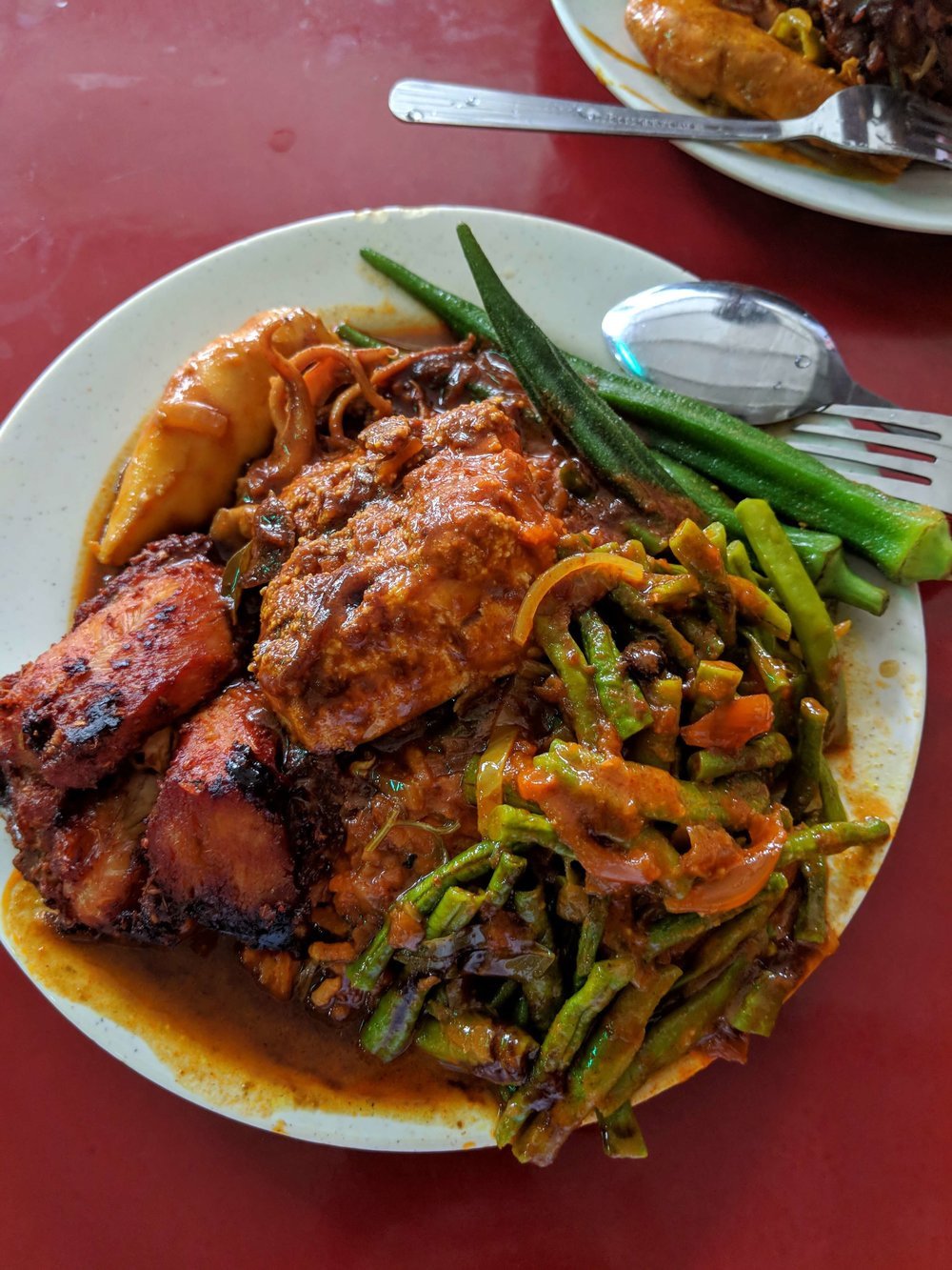 Curry plate at Deen Maju (Georgetown, ML)