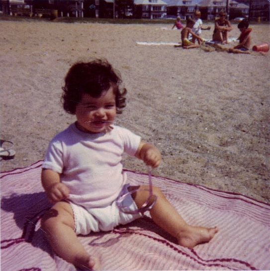 Look, ONE head. At the exclusive M Street Beach, South Boston, MA, 1969