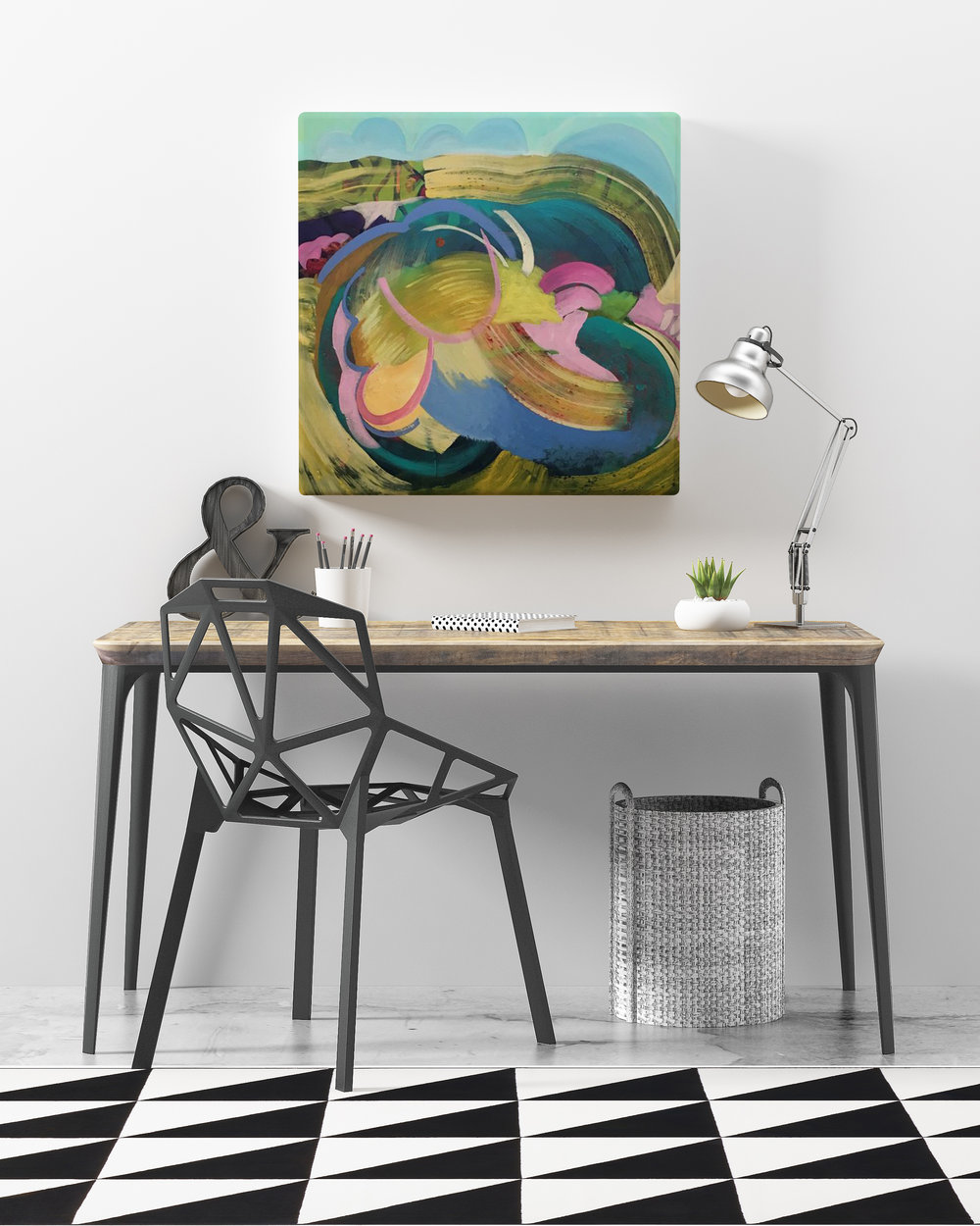 abstract art for home office