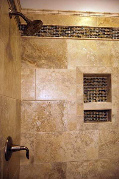 Kapadia Residence Shower Mosaic Tile - Tatiana Hisel Interior Design