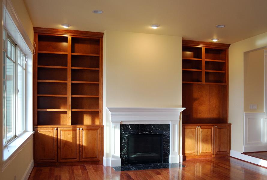Kapadia Residence Custom Built-in Bookcases- Tatiana Hisel Interior Design