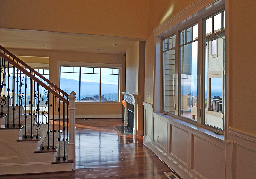 Kapadia Residence Custom Stair Railing Living Room - Tatiana Hisel Interior Design