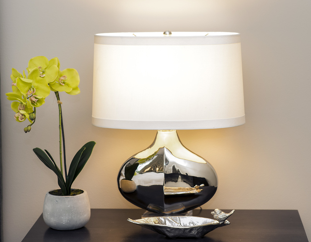Lamps and flowers picked by Tatiana Hisel Interior Design