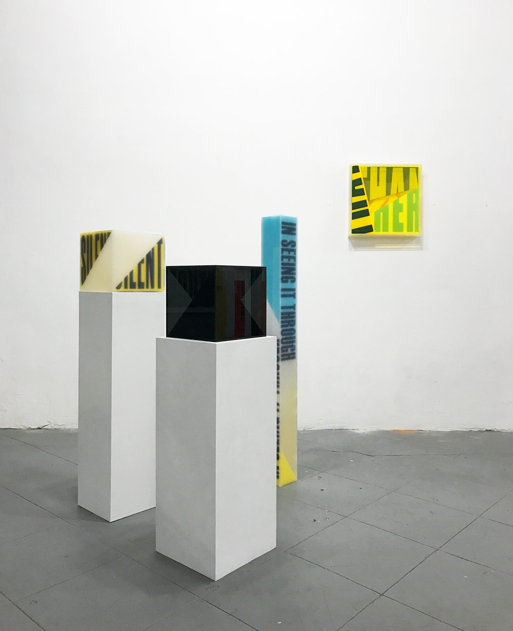 Semantics installation view - acrylic sculptures