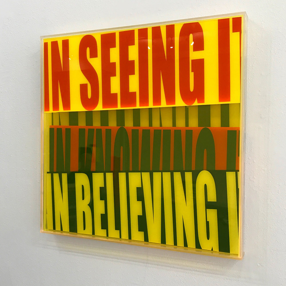 "Semantics ""In Seeing It In Believing It"" - acrylic sculptures"