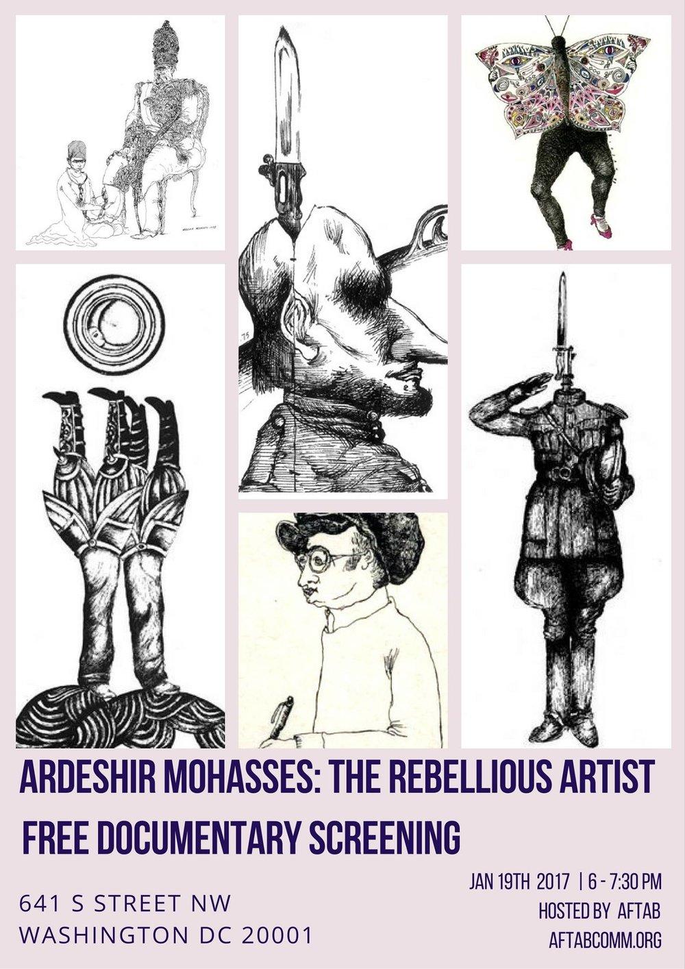 Ardeshir Mohasses: The Rebellious Artist Documentary Screening